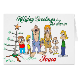 Holiday Greetings from Iowa Card