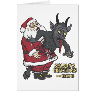 Holiday Greetings from Krampus (and Santa) Cards