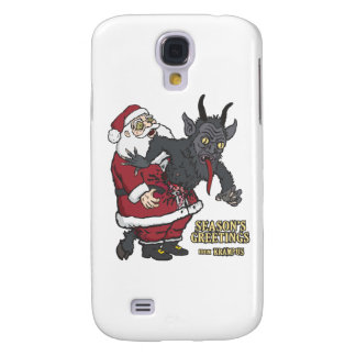 Holiday Greetings from Krampus (and Santa) Samsung Galaxy S4 Case