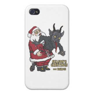 Holiday Greetings from Krampus (and Santa) Cover For iPhone 4