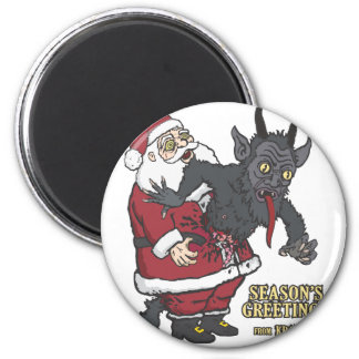 Holiday Greetings from Krampus (and Santa) Magnets