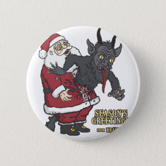 Holiday Greetings from Krampus (and Santa) Pinback Button