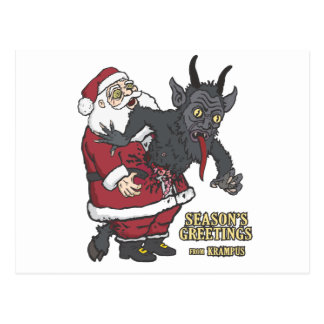 Holiday Greetings from Krampus (and Santa) Postcard
