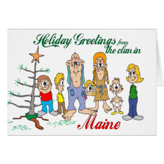 Holiday Greetings from Maine Card