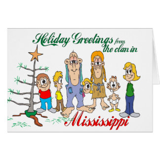 Holiday Greetings from Mississippi Card