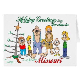 Holiday Greetings from Missouri Card