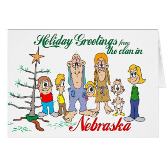 Holiday Greetings from Nebraska Greeting Card