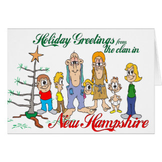 Holiday Greetings from New Hampshire Card