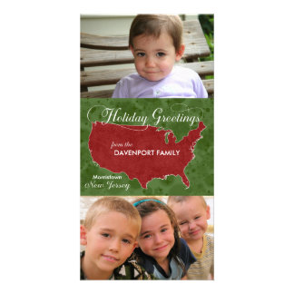 Holiday Greetings from New Jersey - Photo, Name Card