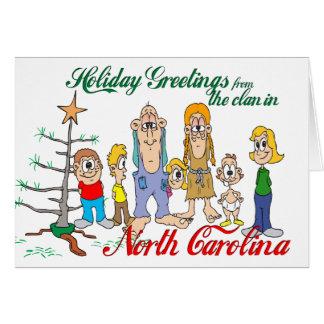 Holiday Greetings from North Carolina Card