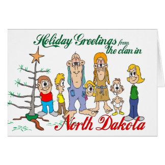Holiday Greetings from North Dakota Card
