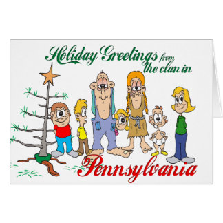 Holiday Greetings from Pennsylvania Card