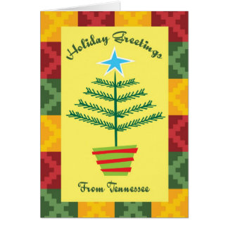 Holiday Greetings From Tennessee Greeting Card