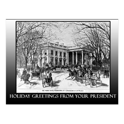 Holiday Greetings From The White House Cards Postcard