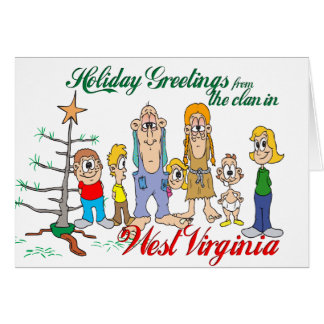 Holiday Greetings from West Virginia Card