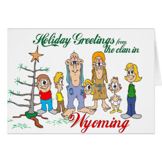 Holiday Greetings from Wyoming Card