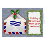 Holiday Greetings from you mailman Christmas Card