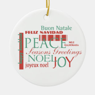 Different language different ornaments keepsake ornaments zazzle holiday greetings in different languages ornament m4hsunfo