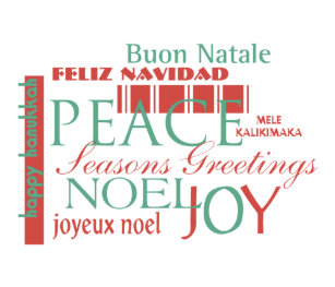 Different languages ornaments keepsake ornaments zazzle holiday greetings in different languages ornament m4hsunfo
