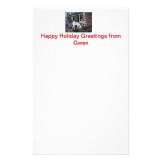 Holiday greetings letterhead with photo
