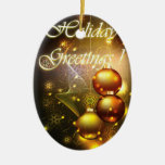 Holiday Greetings Ornament
