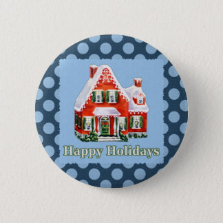 Holiday Greetings Pinback Button