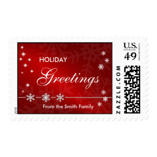 Holiday Greetings Postage Stamp
