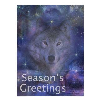 Holiday Greetings - Season's Greetings - And Peace Card