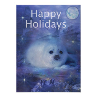 Holiday Greetings - Season's Greetings - And Peace 5.5x7.5 Paper Invitation Card
