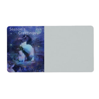 Holiday Greetings - Season's Greetings - And Peace Label