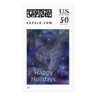 Holiday Greetings - Season's Greetings - And Peace Postage