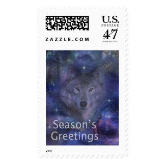 Holiday Greetings - Season's Greetings - And Peace Postage