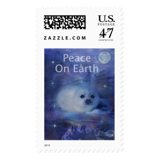 Holiday Greetings - Season's Greetings - And Peace Postage Stamp