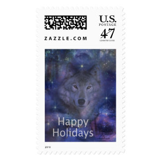 Holiday Greetings - Season's Greetings - And Peace Stamp