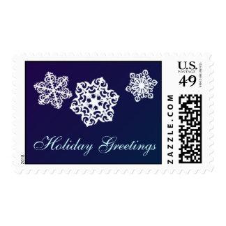 Holiday Greetings Snowflake postage stamps