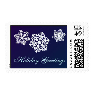 Holiday Greetings Snowflake postage stamps