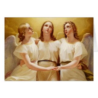 Holiday Greetings-Vintage Angels Greeting Cards