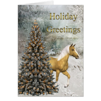 Holiday Greetings-Woodlands, Tree, & Horse Greeting Cards