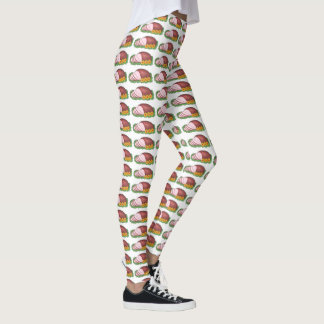 Holiday Ham Christmas Dinner Novelty Leggings
