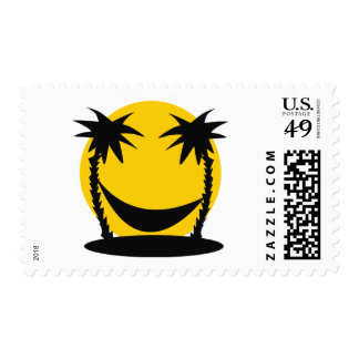 holiday hammock icon postage stamp