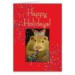 Holiday Hamster Greeting Card