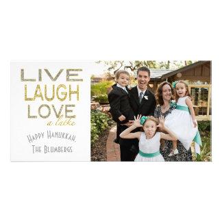 """Holiday Hanukkah Card """"Love a Latke"""" Photo"""