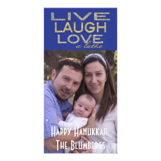 """Holiday Hanukkah Photo Card """"Love a Latke"""""""