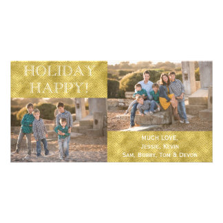 """HOLIDAY HAPPY"" Photo Card/white envelope Card"