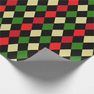 Holiday Harlequin Geometric Pattern Wrapping Paper