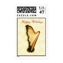 Holiday Harp Stamp