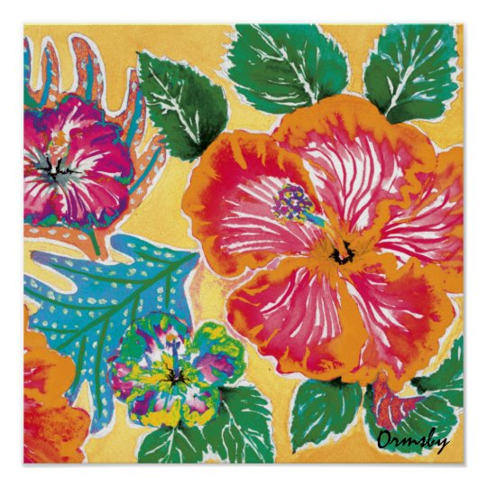 Holiday Hibiscus Citrus poster