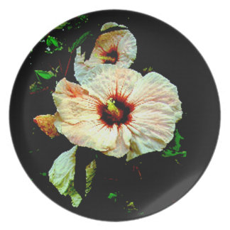 HOLIDAY HIBISCUS DECORATIVE CELEBRATION PLATE