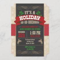 Holiday Ho Ho Hoedown Christmas Party Invitation