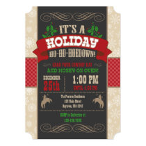 Holiday Ho Ho Hoedown Christmas Party Invitation